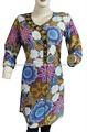 Étnica INDIA ropa de algodón superior mujeres túnica camisa de vestir