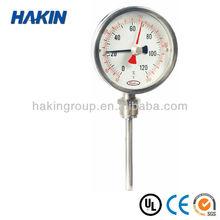 Bimetal Thermometer with maxium temperature recorded pointer