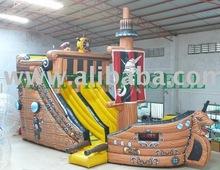 Pirateship inflatable slide