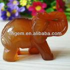 Onyx Elephant Red Agate Elephant Carving