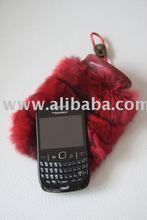CHINCHILLA FUR PHONE CASE