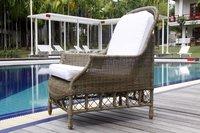 outdoor wicker empire arm chair