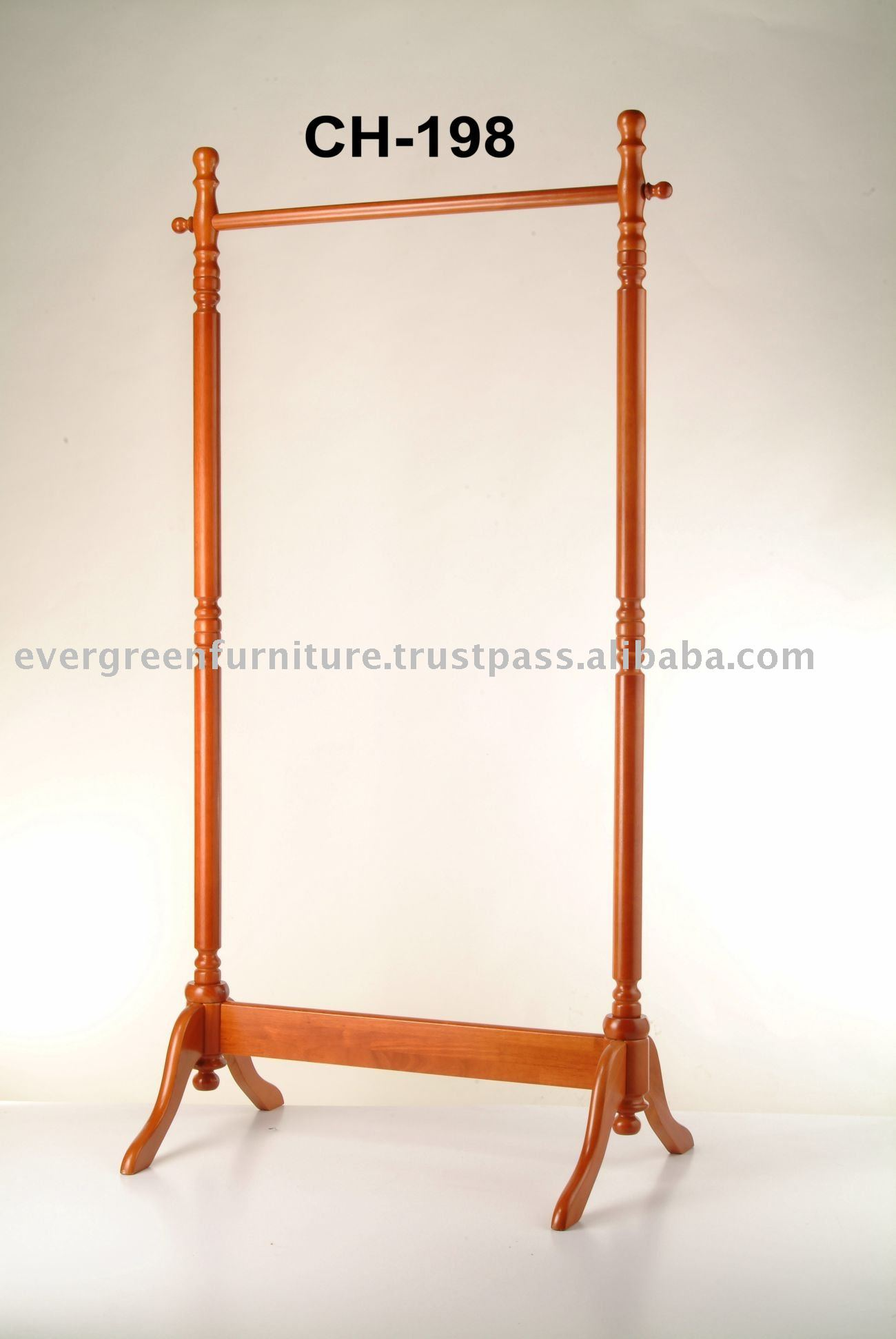 wooden garment rack