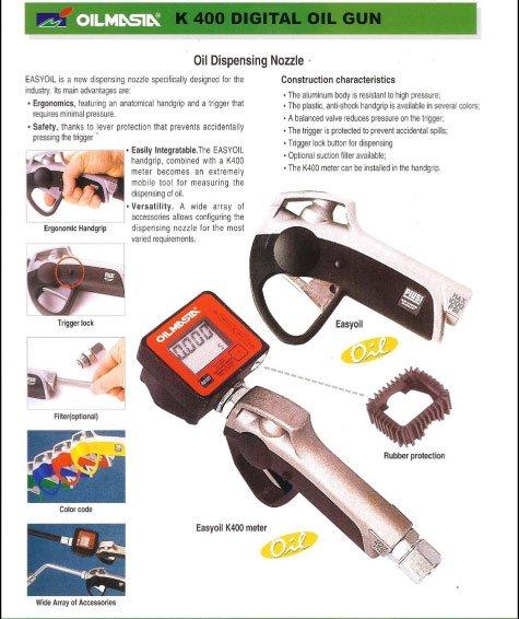 Digital medidor de óleo gun