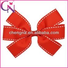 grosgrain ribbon hair bow hair clips kids hair ornament CNHBW-13071513