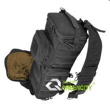 Multi-functional Nylon Fabrics Outdoor Military Camera Sling Bag Black