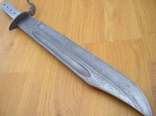 Damascus steel knife blade billet bar