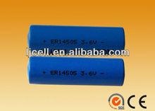 ER14505 lithium battery, 3.6V AA battery ER14505 2400mah