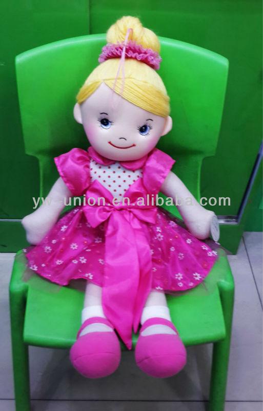 Nuevo estilo de la princesa Ballet de tela muñeca de trapo-Muñecas ...