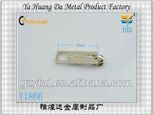 shinny zinc alloy gold zipper slider for bag accessories