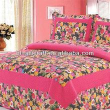 Stock wholesale cheap printed cotton korean quilt SJ-081