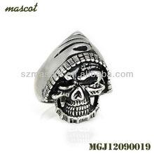 Titanium Gothic Steampunk Style Men Ring Biker 316l Steel Ring