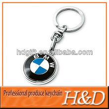 cheap aluminium keyring with car brands