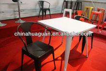 metal bar table and bar chair