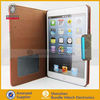 PU 5 card slots+hard back stander function cover case for ipad mini