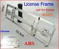 1 lot 50pieces/lot European size car license frame (Chrome) Car license plate RoHS pro-environment ABS #F