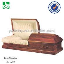 JS-A789 fixed handles wood caskets