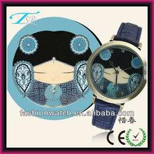 Custom multiple dial character design 2013 new ladies watch bronze case