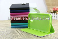 Mixed Color Magnet Button Flip Cover for Samsung Galaxy Mega 6.3 I9200 with Card Slots