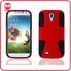 Red Black Tuff Armor Combo Hybird PC Silicone Case for Samsung Galaxy S4 I9500