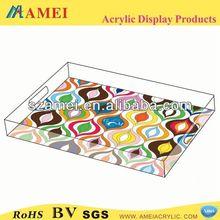 Custom acrylic products/acrylic tray/acrylic bathroom amenity tray