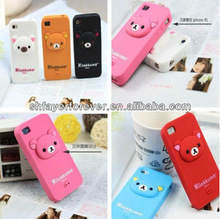 2013 Hot Sale Top Quality Bear Shape Silicone Mobile Phone Case with Trendy Design