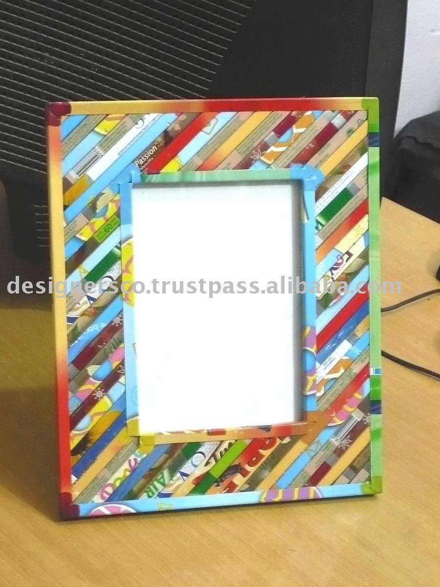 Reciclado esta o marco de fotos 4 x 6 marco identificaci n - Marco 4 fotos ...