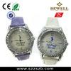 fashion diamond watch ,Japan movement ,nice quartz watch with leather strap ,zinc alloy watch