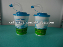 3D Plastic straw cup