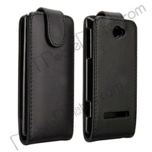 Black Magnetic Top Flip Vertical Leather Case Cover for HTC 8S, Pouch Leather Case Belt Bag for HTC 8S, Phone Case Wholesale