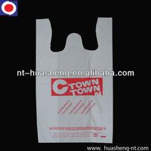 HDPE White printed t shirt shopping bags