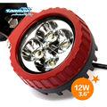 12w de alta potencia de la lámpara led auto led de luz automático de los faros de caza para la lámpara led auto sm6127