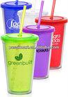 Meets FDA requirements double wall plastic tumbler/cup/mug