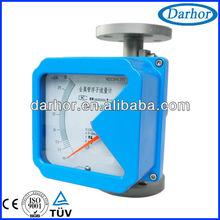 Metal tube variable area low flow water meter