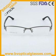 2013 new fashion half-rim metal eyewear in stock with light TR90 temples 2295