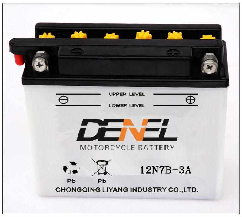 De plomo ácido eléctrico piezas de la motocicleta motocicleta batteries12v 7ah( 12n7b- 3a))