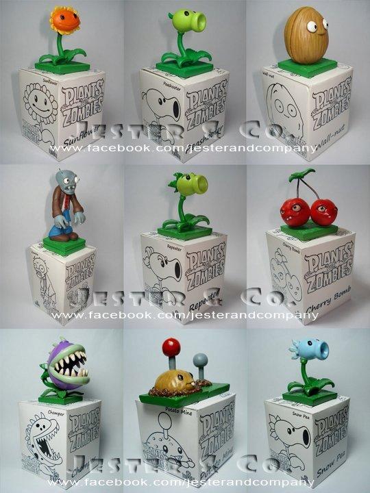 las plantas vs zombies en miniatura de juguete de colección