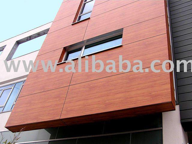 Exterior wood wall cladding