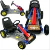 Trademark 80-226RED Go-Kart Ride-On Cars Battery Operated Red