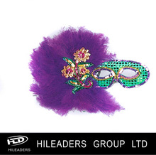Wholesale Purple Feather Mask HY112
