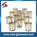 plata mercurio votivas de vidrio vela titulares