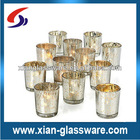 Silver mercury glass votive candle holders
