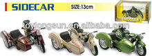 13cm diecast motociclo sidecar modello di raccolta