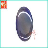 Purple onyx beads oval slices with hole
