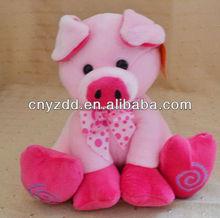 soft toy pink pig/stuffed plush pink pig toy/pink pig toys
