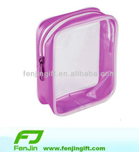 custom clear transparent pvc gift bag with zipper