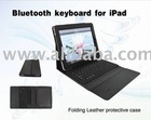 leather protective folding case with keyboard for ipad