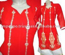 Ladies Fashion wear Frock ( Front Embroidery ), 3 Pcs Suit (Item No.IMPEXPOLADIES785)