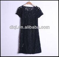 short black lace sexy babydoll dress