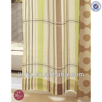 M3291 japanese style check print window curtain patterns thread curtain shade blind